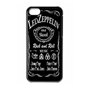 Led Zeppelin Band Poster Hard Plastic phone Case Cover For Iphone 5c FAN219556