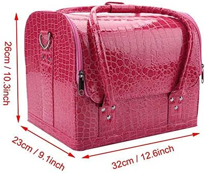 化粧品袋、折り畳み式多機能化粧品収納バッグPVC、ポリエステル素材小サイズ用女性、化粧品愛好家(#2)