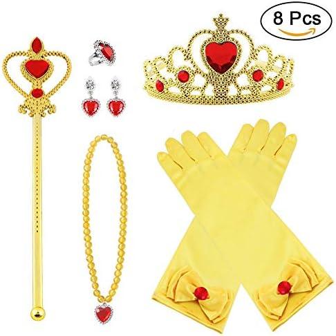Vicloon Princesa Vestir Accesorios 8 Pcs Regalo Conjunto de ...