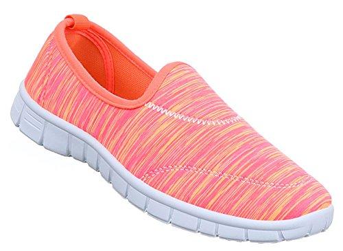 Damen Schuhe Freizeitschuhe Sneaker Slipper Pink 38 hb2agGM