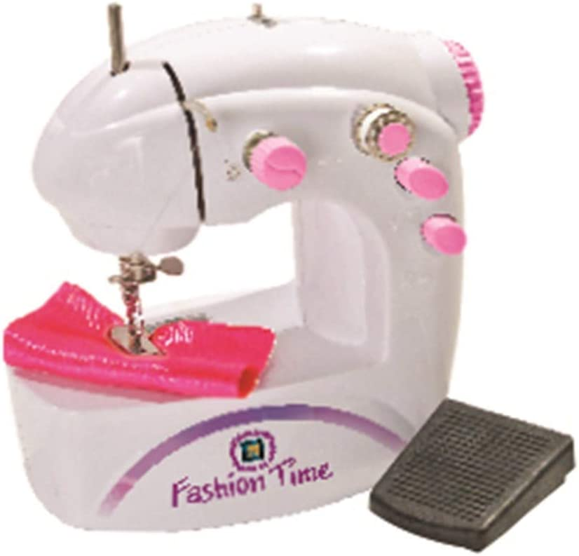 AMAV Fashion Time The Little Seamstress Denim Creations Craft Educational Sewing Kit - DIY Make Your Own Fashion, Sewing Machine Set for Girls