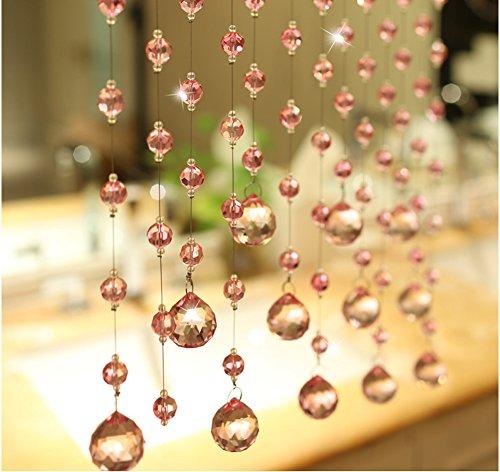 Fushing 5Pcs Crystal Garland Wedding Bead Crystal Ball Pendants Strands For Home Party Wedding Christmas Decoration (39