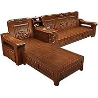 Club Hotel Zen Furniture Solid Wood Fabric Sofa