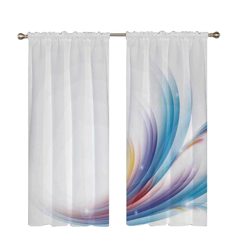 C COABALLA 13th Birthday Decorations Utility Shading Rod Curtain,Cake with Numeral Candles and Cherries Yummy Desert for Party for Home,56.6'' W x 96.4'' H
