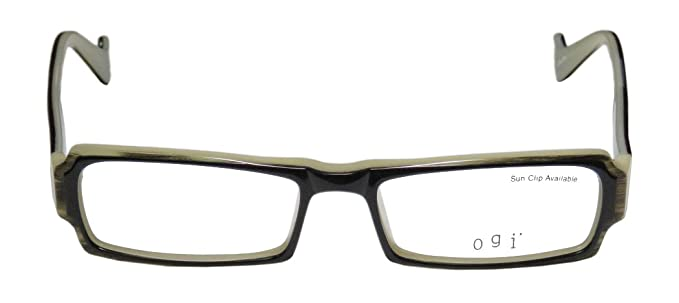 198f2549c4b Ogi 9040 Mens Womens Rectangular Full-rim European Simple   Elegant Optical  Eyeglasses