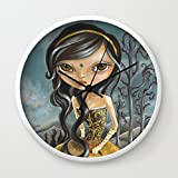Society6 Arabian Fairytale Wall Clock White Frame, Black Hands