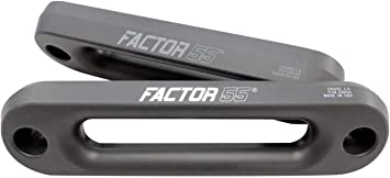 Factor 55 Aluminum Hawse Fairlead 1.0 Gunmetal Gray 00016