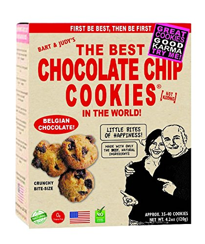 Belgian Chocolates Chips - Bart's Bakery The Best Chocolate Chip Cookies, In The World!, 4.2 Ounce