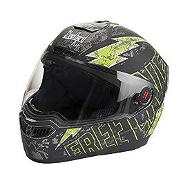 Steelbird SBA-1 Free Live Matt Black with Green with Plain visor,600mm