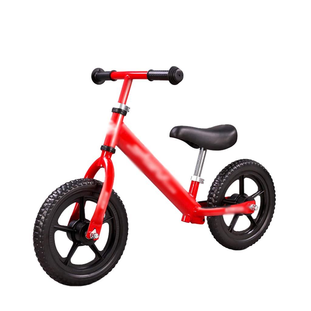 DUWEN 子供のバランスの車フットレス二輪の自転車高炭素鋼フレーム (色 : Red)  Red B07JL86BV4