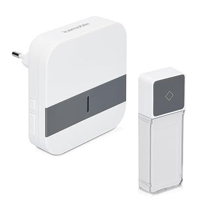 kwmobile timbre electrónico inalámbrico - con 300m de alcance - timbre de puerta por radio con