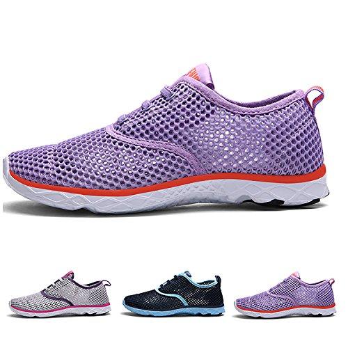 Purple 1 Water light up Women Lace Drying Sneakers Quick Shoes Aqua Odema Outdoor Men qOXPw11