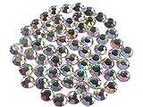 Crystal AB , Preciosa Genuine Czech Crystals, 8-faceted Rhinestone Flatbacks, ss34 (7mm) ~ 288pcs