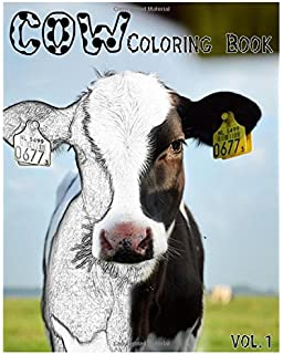 Amazon.com: Cow Coloring Book For Adults (Cows, Farm Animals ...
