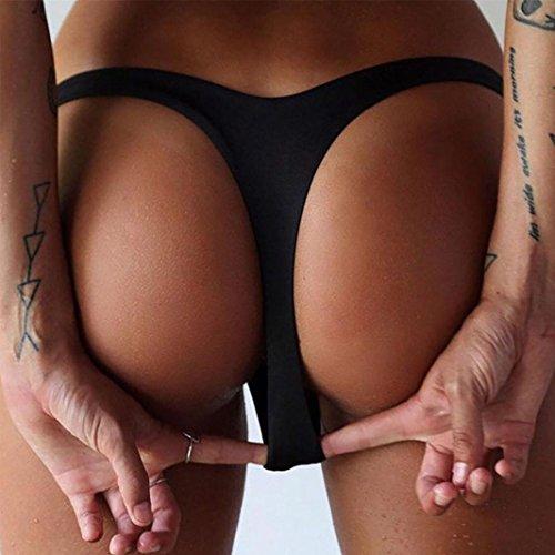 tangas de mujer Switchali Mujer atractivo Playa Bikini Ropa Interior Braguitas V Tangas de mujer baño baratos Blanco