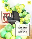 "Green Agate Mix Latex Party Decoration Marble Balloon 30pcs Thick 12"", Jumanji, Jungle, Animal, Dinosaur Birthday Party, Photobooth, Backdrop, Balloon Arch - by Tokyo Saturday (Green Marble, 30)"