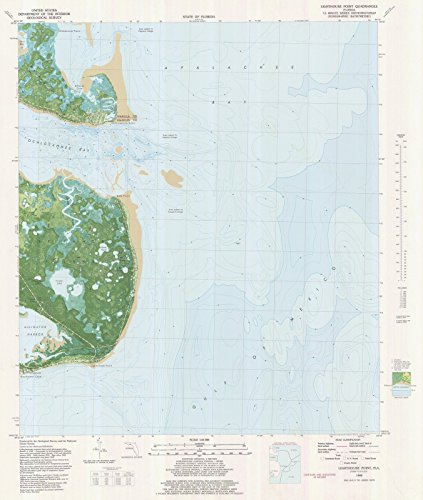 Map | Lighthouse Point, FL, 1982 NOAA Topographic Bathymetric Map | Vintage Wall Art | 36in x 44in
