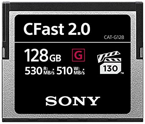 Sony 128 GB CFast 2.0 Profesional Flash Tarjeta de Memoria ...