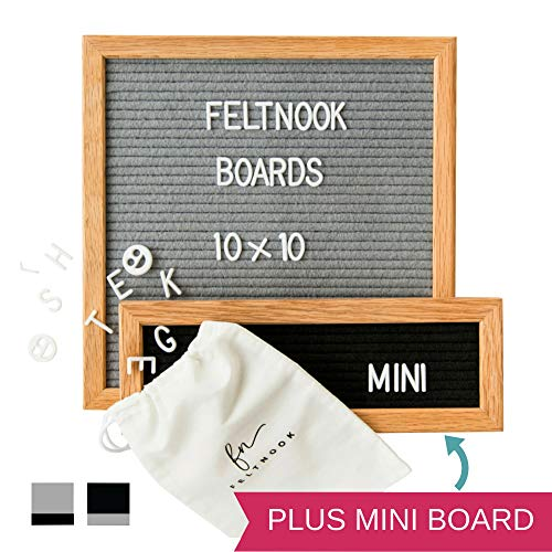 Characters Memo Sheets - Felt Letter Board Message Set - Two Changeable Letter Boards Including Mini - 346 Letters