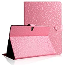 Samsung Protective Case for Tab 4 10.1, elecfan ® PU Leather Ultra Slim Lightweight Book Style Flip Stand Folio Case Waterproof Smart Cover with Auto Sleep /Awake Feature for Samsung Galaxy Tab 4 10.1 inch T530 - Pink