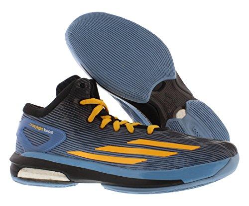 adidas Männer Crazylight Boost Basketballschuhe Weiß / Navy / Silber