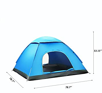 Large Automatic Tent 3 - 4 Person Man Portable Instant Pop Up Tents Set UV  sc 1 st  Amazon UK & Large Automatic Tent 3 - 4 Person Man Portable Instant Pop Up ...