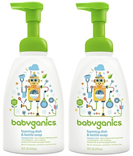Babyganics Foaming Dish & Bottle Soap - Fragrance Free - 16 oz - 2 -