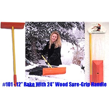 Amazon Com Sno Rake Model 101 12 Quot Rake 24 Quot Wood