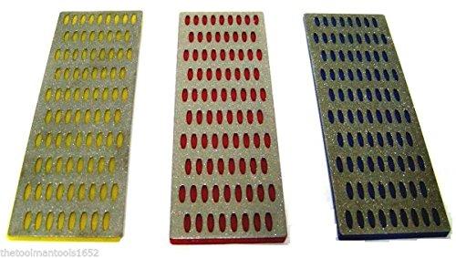 3 Pcs Large Diamond Sharpening Hone Stone Whetstone Sharpening Block Kitchen Knife