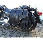 ORLETANOS-Big-Boy-Black-Side-Case-Saddle-Bag-Compatible-with-Harley-Davidson-Left-Side-Pocket-Motorcycle-Bag-HD-Black-Wildstar-Dragstar-Western-Side-Case-35L