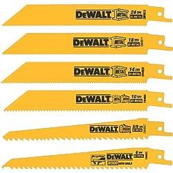 Dewalt Dw4856 Metalwoodcutting Reciprocating Saw Blade Set, 6-piece