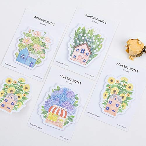 Office Decoration Sticky Notes - Pcs Dream Garden Sticky Note Flower House Memo Pad Bookmark Stationery Office Agenda Planner Sticker School Supplies A6702 1 Pcs