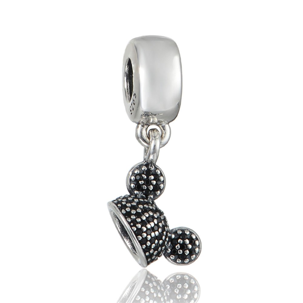 Park Exclusive Bead Disney Black Pave Mickey Ear Hat Charm 791883462ETR