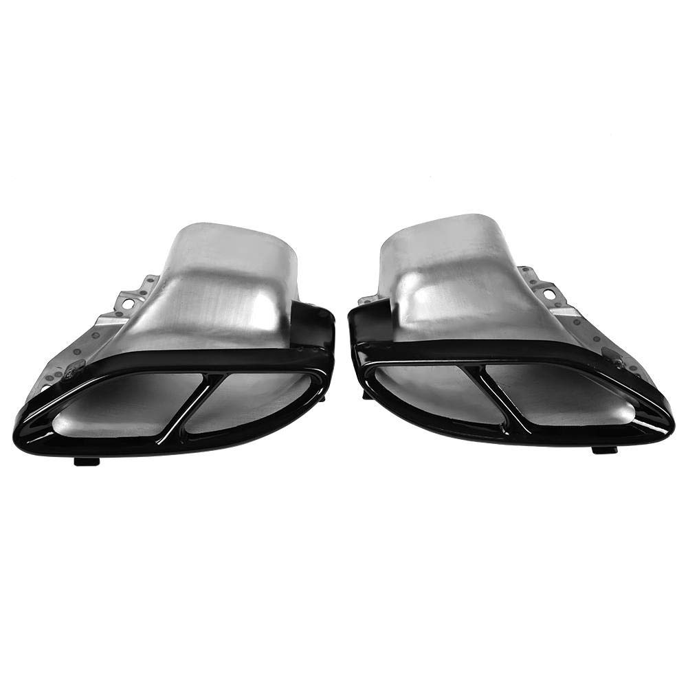 2 PC Auto Schalld/ämpfer Endrohr f/ür Mercedes Benz A//B//C//E-Klasse W205 W212 W213. Outbit Auspuffspitze