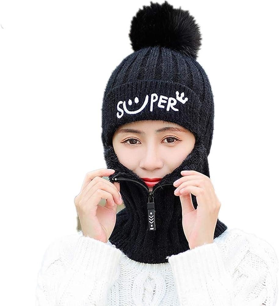 Yihoon Warm Neck Gaiter Balaclava Ski Bike Half Face Cover Warmer Winter Sports Hats for Women and Girls