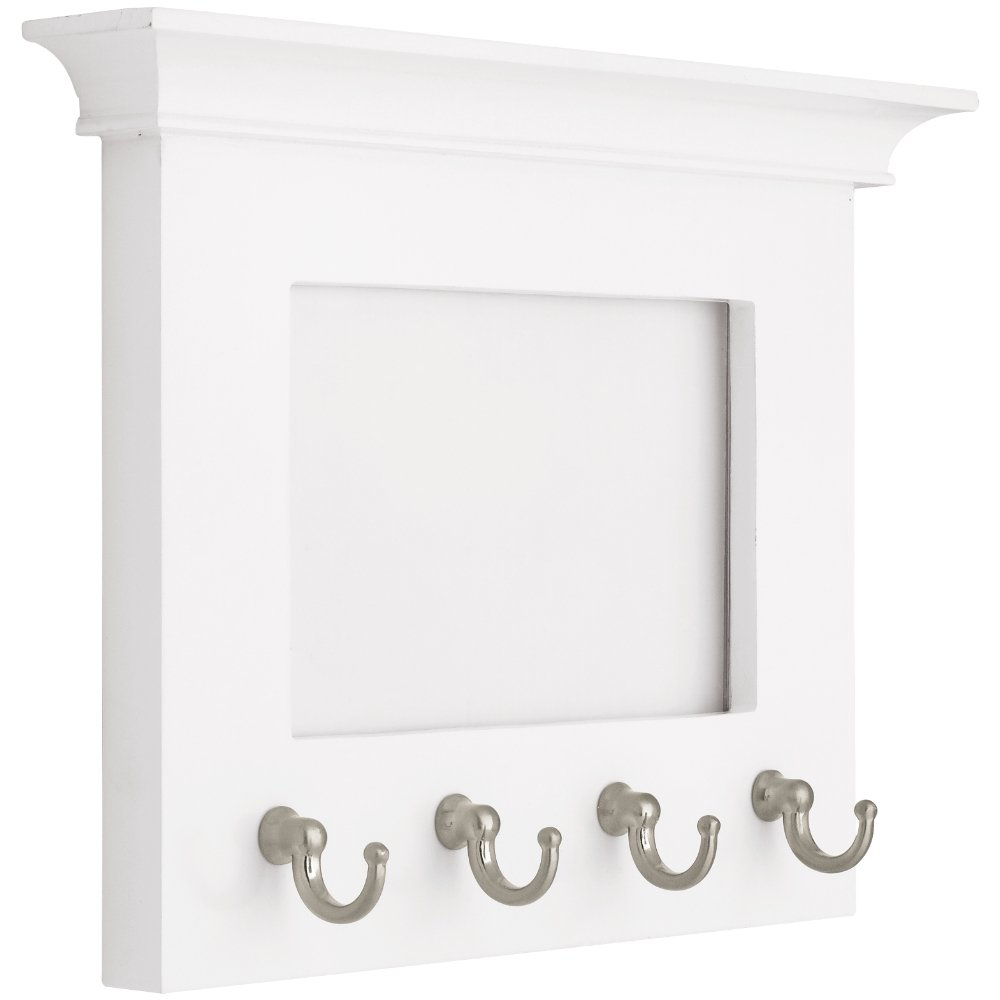 LIBERTY PFKEYR-WSN-R Picture Frame with 4 Key Hooks, 6''