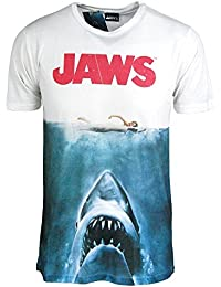 Movie Tshirt - Mens Shark T Shirt - Movie Poster Sublimation Print Teeshirt Medium - Chest