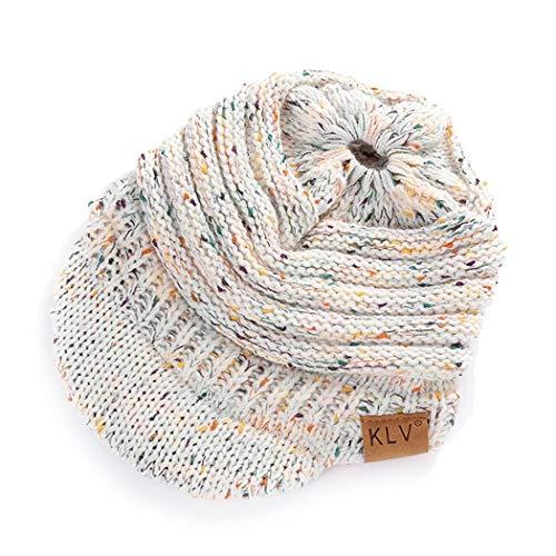 Ruior Winter Autumn Knitted Ponytail Flower Line Hollow Hat Warm Soft Wool Cap Skullies & Beanies