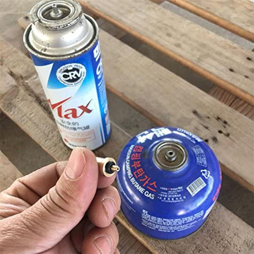 Sharplace 2 Pcs de Adaptador de Recarga de Bombona de Gas Pieza de Repuesto Accesorios Camping Estufa