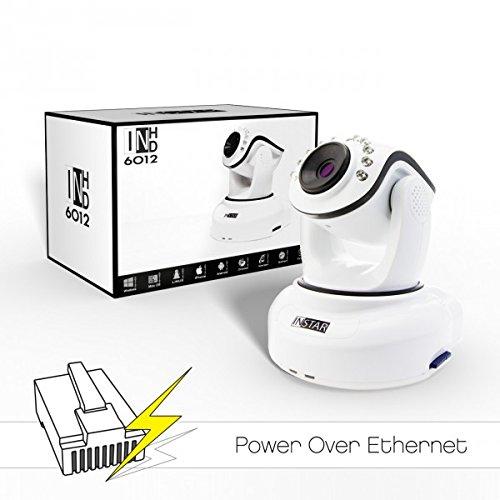 INSTAR IN-6012HD PoE Kamera IP / HD Kamera / Surveillance ip cam mit PoE 802.3af / LAN und steuerbar dank Motoren (10 IR LED Infrarot Nachtsicht, WDR, SD Karte, Bewegungserkennung, Babyphone, Aufnahme) weiss
