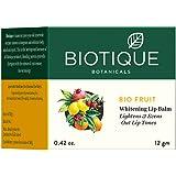 Biotique Fruit Whitening Lip Balm Lightens Evens Out Lip Tones