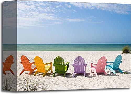 夏休みビーチギャラリーWrappedキャンバスアート 8in. x 10in. B0744N5PQN  8in. x 10in.