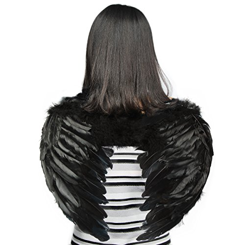 Yuda Children Angel Wing in Black with Elastic Straps, 19.7 by 15.7 in Inch