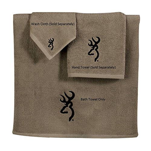 (Browning Buckmark 3 Pc Embroidered Bath Towel Set)