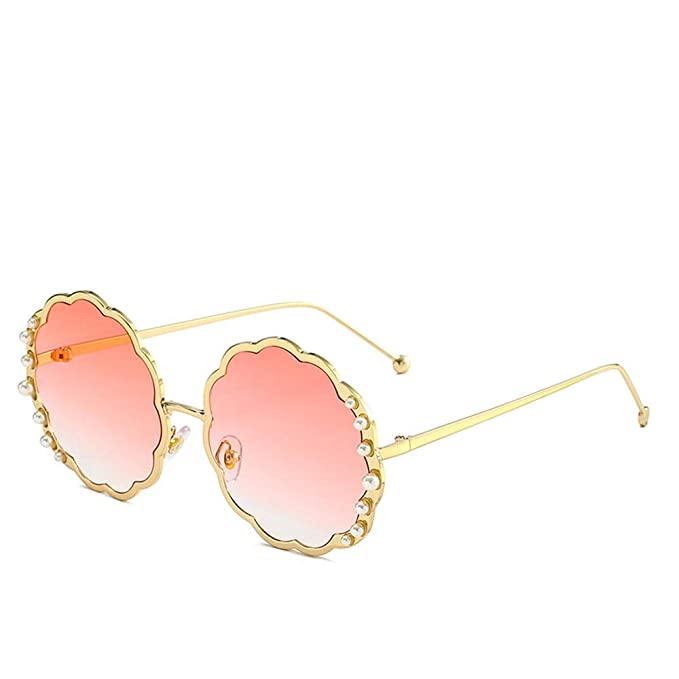 Gafas de sol redondas extragrandes polarizadas con perla ...
