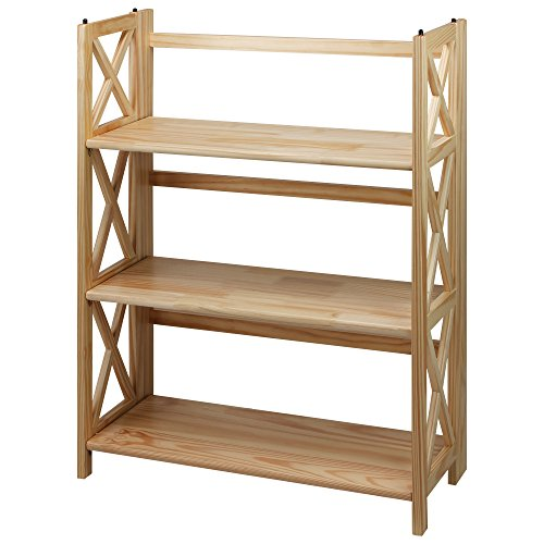 Casual Home 301-30 Montego 3-Shelf Folding Bookcase, Natural ()