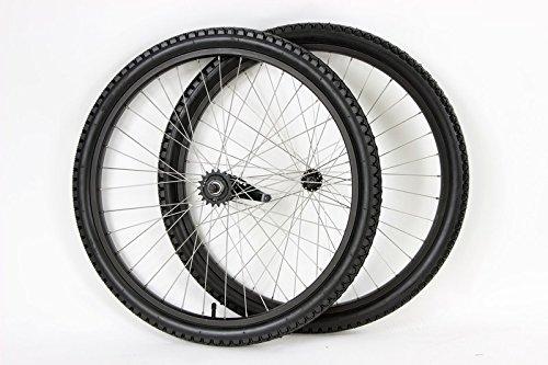 - MANGO 26 inch Coaster Brake Wheel Set Beach Cruiser Bike Bicycle with Tires and Tubes! (Black)