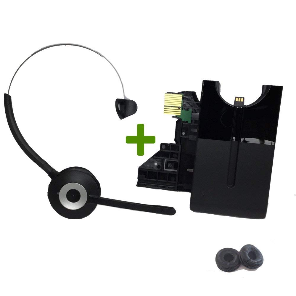 Mitel Wireless DECT Headset for Mitel MiVoice 6930, 6940 Phones | This Headset is only Compatible with 6930 and 6940 Mitel Models | Includes Two Bonus Soft Leatherette Cushions by Global Teck Worldwide