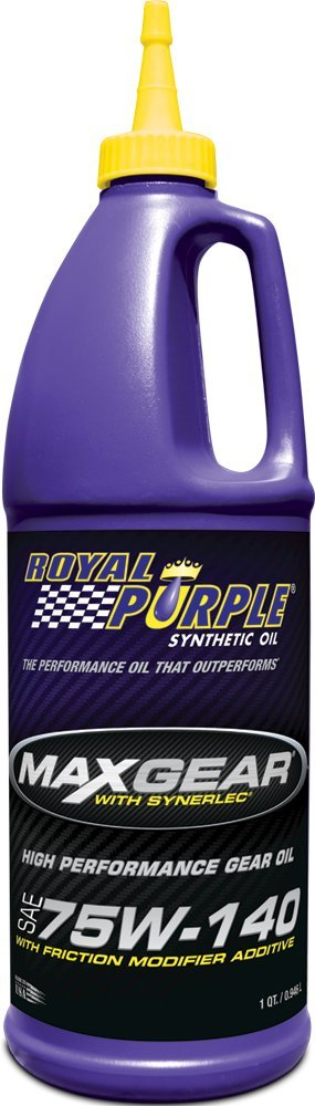 Royal Purple 12301 Max Gear 75W-140 High Performance Synthetic Automotive Gear Oil - 1 qt. (Case of 12) by Royal Purple