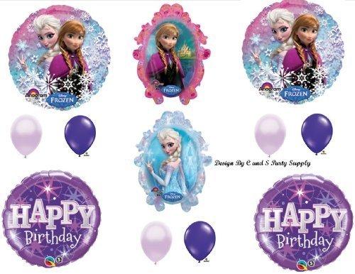 Frozen Purple #2 Sparkle Disney Movie BIRTHDAY PARTY Balloons Decorations Supplies - Purple Sparkle Party Supplies